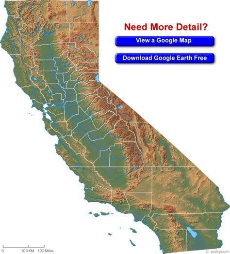 satellite map california california map and california satellite image