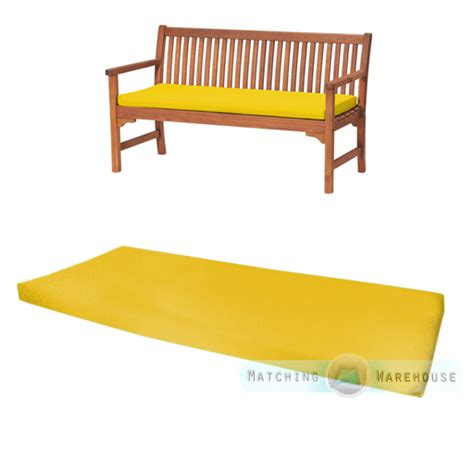 3 seater bench cushion outdoor waterproof 3 seater bench swing seat cushion only garden furniture pad ebay