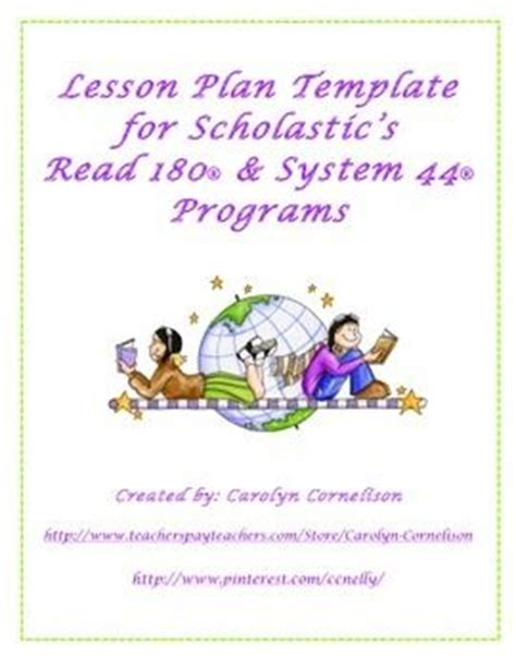 lesson plan template read 180 system 44 read 180 and lesson plan templates on pinterest