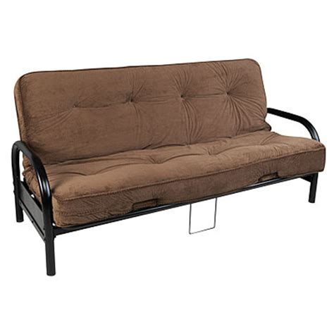 Plush Futon Mattress by View Black Futon Frame With Check Plush Futon Mattress Set