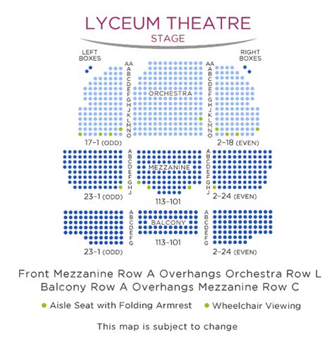 lyceum theatre floor plan fully committed tickets access information broadway new