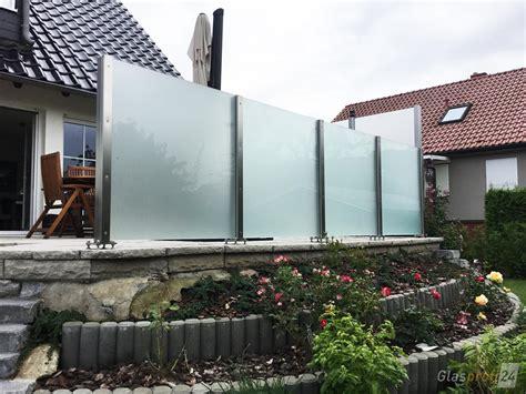 Terrassen Sichtschutz Glas