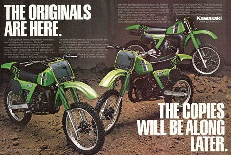 trials and motocross classifieds kawasaki kx and kdx ads 1980 1981 motorsport retro