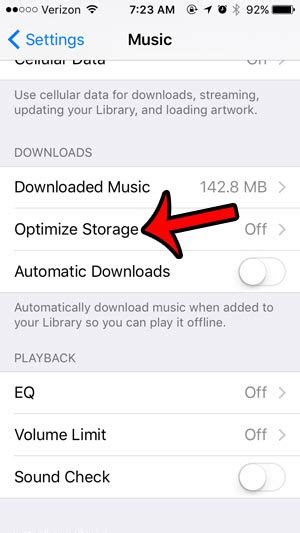 optimize iphone storage how to optimize storage usage by the iphone music app