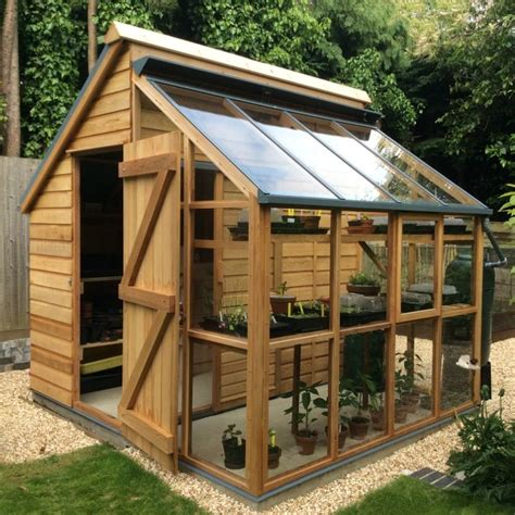 Backyard Wood Sheds by 25 Best Ideas About Greenhouse Shed On