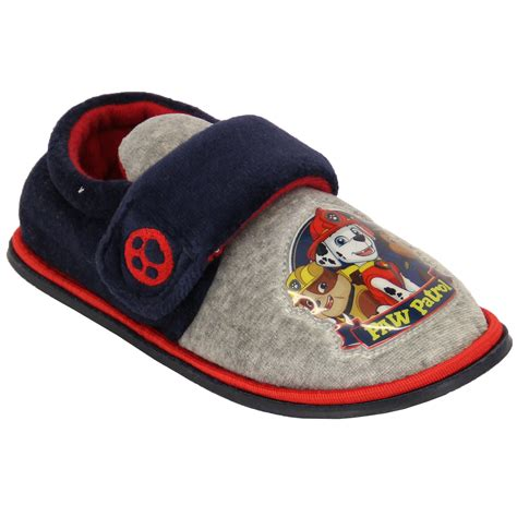 paw slippers boys toddlers velcro paw patrol pup heroes slippers