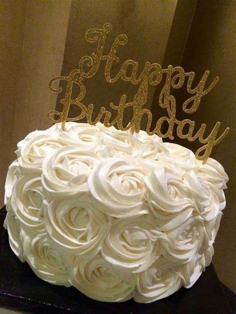 Birthday Party Ideas   Gold birthday, Rose cake and Rose