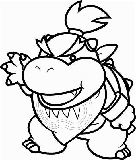 mario coloring pages bowser jr bowser jr coloring pages coloring pages pinterest bowser