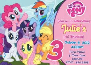 top 14 my pony birthday invitations
