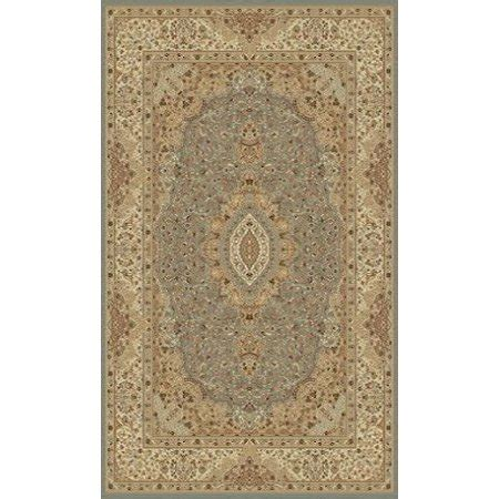 1 Inch Thick Area Rugs - blue with beige traditional area rug one inch