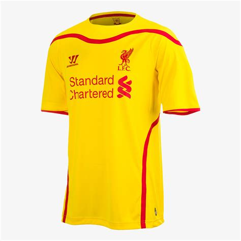 liverpool kit new liverpool kit liverpool fc shirt uksoccershop liverpool fc new yellow away kit for 2014 15 anfield online