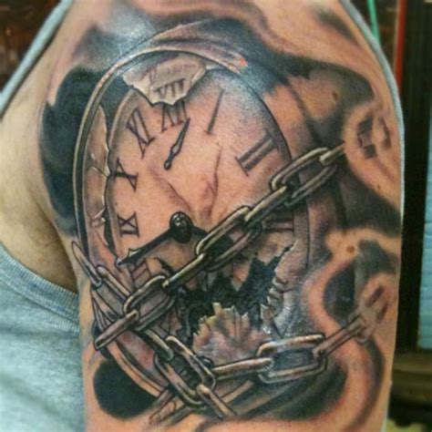 broken clock tattoo meaning grandfather clock designs