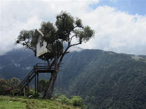 The Adventurous Swing At Casa Del Arbol Ecuador World