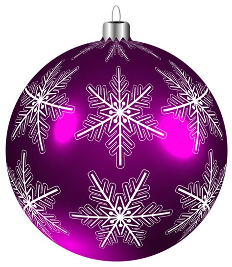 beautiful purple christmas ball png clip art image new