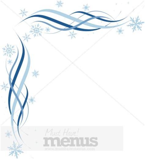 blue snowflake corner christmas menu borders