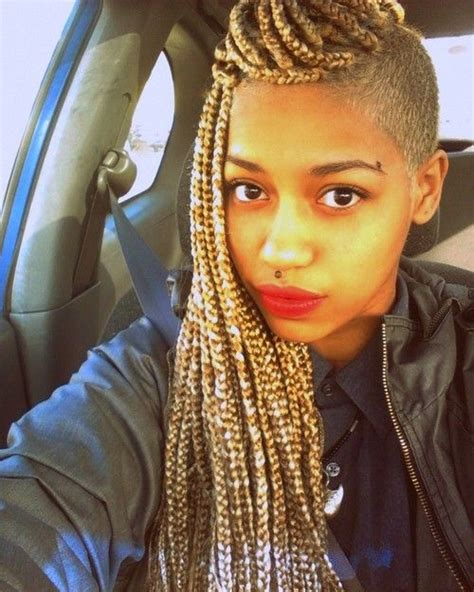 1000 Images About Braids For Sistas On Pinterest | blonde braids with shaved sides face reference side shave