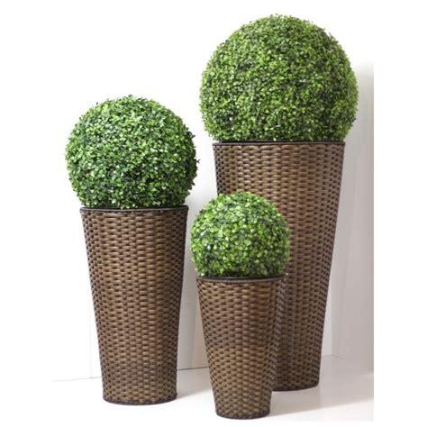 vasi in rattan vaso rattan arredo giardino