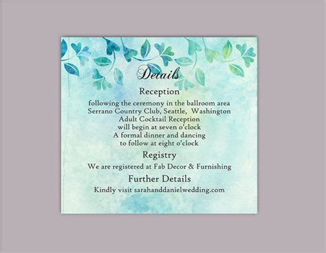 enclosure card template microsoft word diy rustic wedding details card template editable word