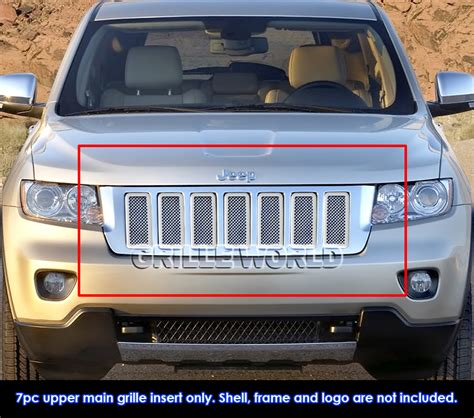 Jeep Grand Grill Inserts For 2011 2013 Jeep Grand Stainless Steel Mesh