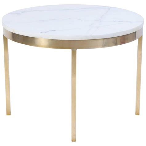 brass accent tables brass and marble round accent table by nicos zographos at