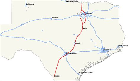 map of texas interstates interstate 35 in texas wikiwand