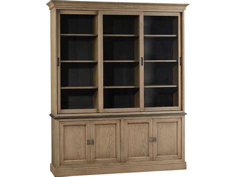 Low Bookshelf With Doors Grange 1904 Solid Oak Glazed Bookcase With 4 Low Doors