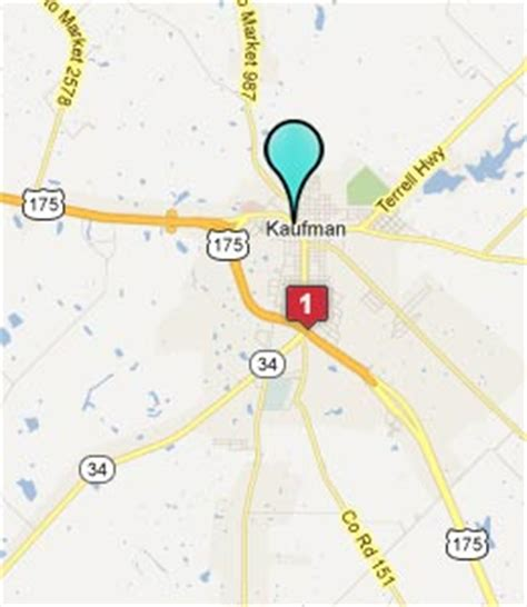 map of kaufman texas hotelguides