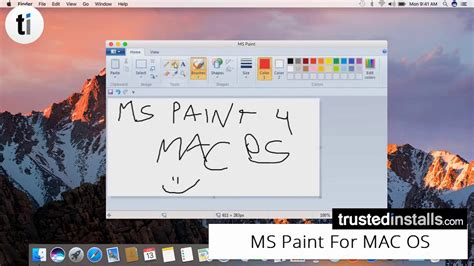 paint for mac microsoft paint for mac os 2017 youtube