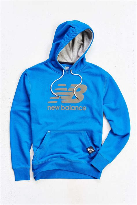 Hoodie Zipper New Balance Jaket Sweater Keren new balance pullover hoodie sweatshirt in blue for lyst