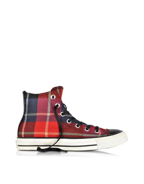 Jual Converse Special Edition converse all hi checked fabric sneaker in lyst