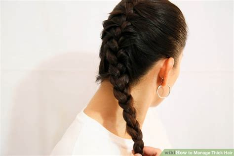 hairstyles for bed wiki how 3 ways to manage thick hair wikihow
