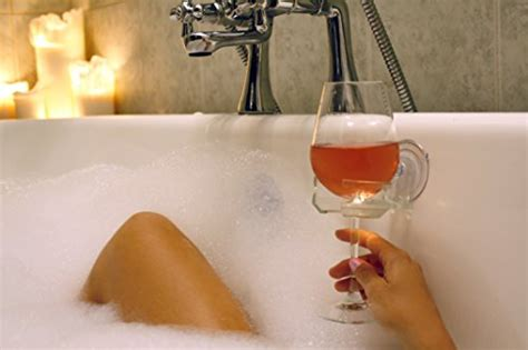 bathtub wine glass holder suction cup sipcaddy bath shower portable cupholder caddy for beer