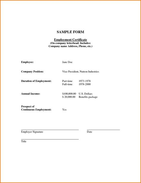labor certification letter format certificate of employment slereference letters words