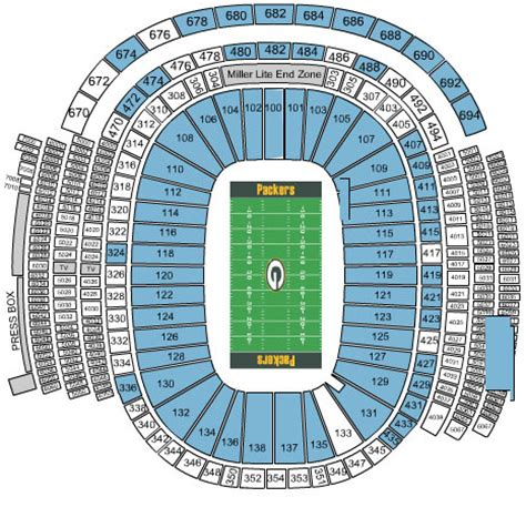 bay bears stadium seating green bay packers tickets 2017