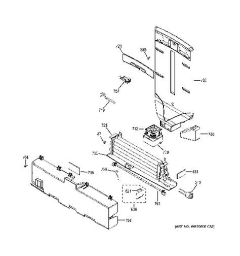 ge adora refrigerator parts engine diagram and wiring
