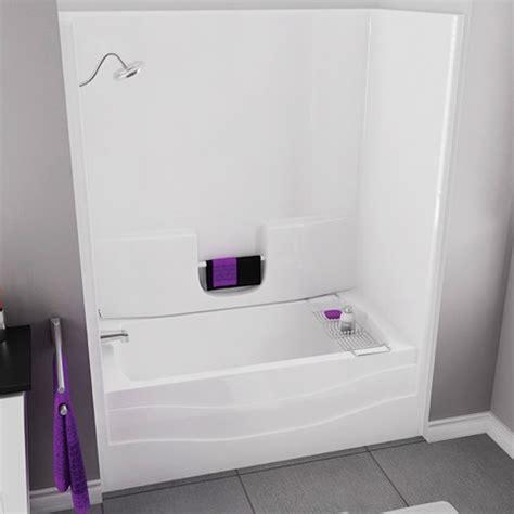 bathtub and shower units ts3060 60 quot white tub shower unit left drain by maax