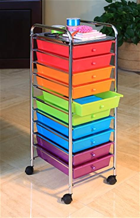 Seville 10 Drawer Cart by Seville Classics 10 Drawer Organizer Cart With Drawers