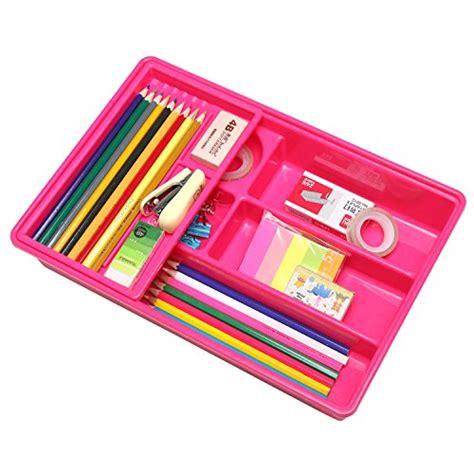 Plastic Desk Drawer Organizer Pink Multi Compartment Office Desk Drawer Plastic School Supply Organizer Ebay