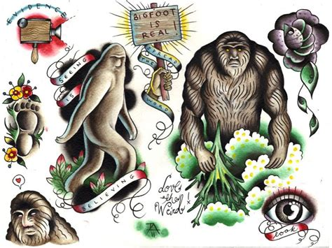 bigfoot tattoo bigfoot search tattoos