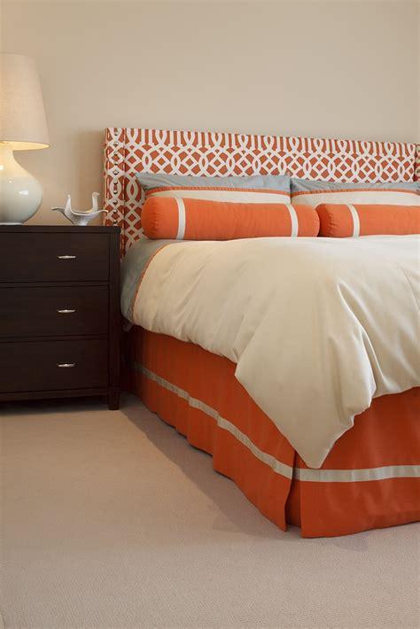 orange headboard orange headboard and orange skirt my color pinterest