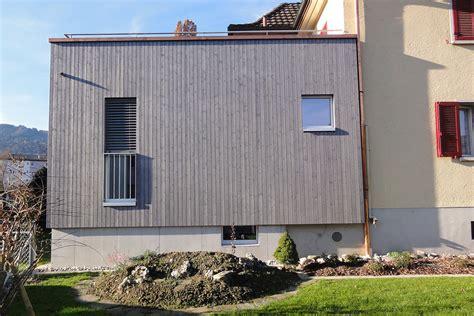 Anbau Haus Holz by Referenzobjekt Holzanbau Einfamilienhaus Kriens