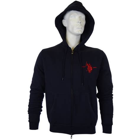 Polos Zip Hoodie u s polo assn dbl zip navy hoodie u s polo assn from n22 menswear uk