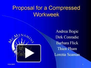 compressed work week template ppt for a compressed workweek powerpoint