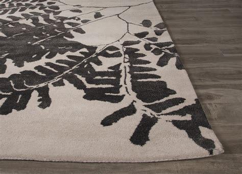 area rug black white grey pattern rugs floral decor floor jaipur rugs modern floral pattern white black wool and art