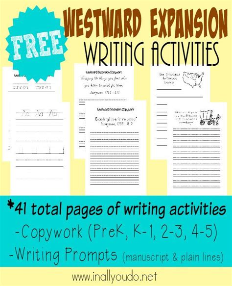 Westward Expansion Essay Prompts by Westward Expansion Writing Activities Writing Prompts Prompts And Activities