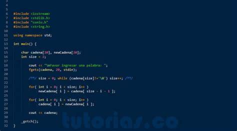 invertir cadenas en c funciones visual c invertir una cadena de texto