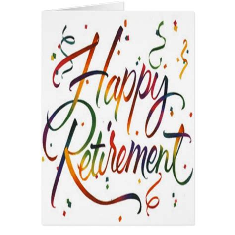 Greeting Card Template For Retirement by Happy Retirement Greeting Card Zazzle