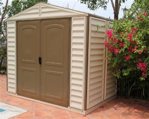 Cheap Plastic Sheds 8x6 by Duramax Woodside 8x6 Vinyl Storage Shed With Foundation Kit Homonononaoneraaa