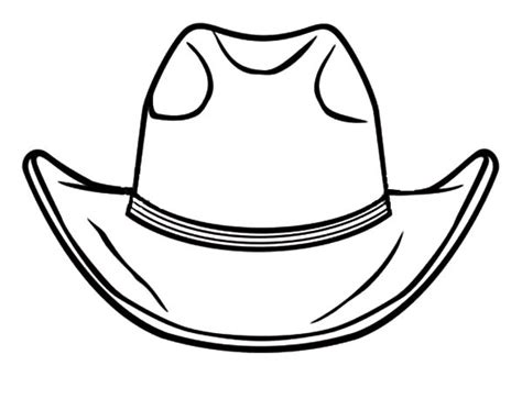 free coloring pages cowboy hat cowboy boot coloring pages clipart best