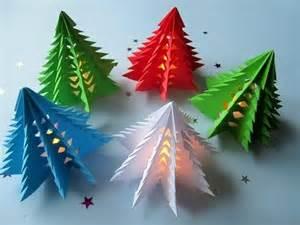 weihnachtsbaum aus papier 3d weihnachtsbaum selber basteln diy papier